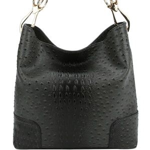 My Bag Lady Online Bags - Hillary Ostrich Hobo Tote